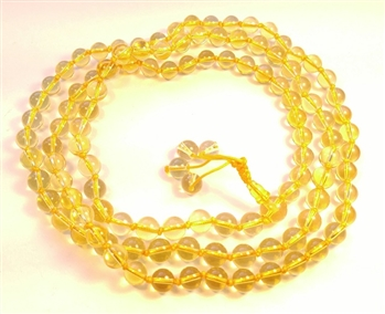 Citrine Knotted 108 Bead Mala