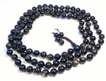Gold Sheen Obsidian Knotted 108 Buddhist Mala