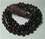 Smoky Quartz Knotted 108 Mala Prayer Beads