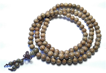 Stretchy Verawood 108 Bead Mala
