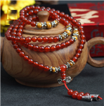 Stretchy Carnelian Tigers Eye 108 Bead Mala
