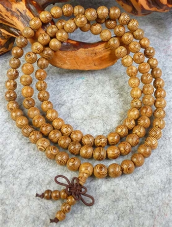 Stretchy Phoenix Tail Wood 108 Bead Buddhist Mala