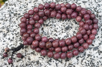 Stretchy Purpleheart Wood 108 Bead Mala Beads