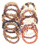 Sampler Pack - Top 15 Best Selling Wood & Seed Beaded Bracelets - Wrist Malas