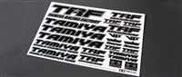 Tamiya TRF Sticker C Mirror Finish Border Black 42246