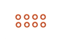 Tamiya 5mm Gear Differential O-Rings Red 8pcs 42259