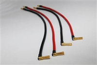 Silicon Power Cable Set for DC Input and Output (10AWG/25cm×2pcs・30cm×2pcs)/φ4mm Gold Plug