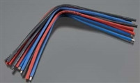 "TEAM TEKIN 14awg Silicon Power Wire 12pcs 7"" Red Black Blue"