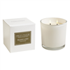 Belgian Linen 2 wick candle in white glass 12oz.