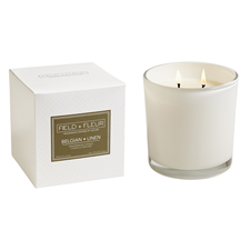 Belgian Linen White 2 Wick Candle 12oz.