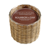 Bourbon Oak 2 wick handwoven candle  12oz.