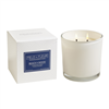 Beach Wood 2 wick candle in white glass 12oz.