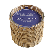 Beach Wood Handwoven 2 Wick Candle 12oz.
