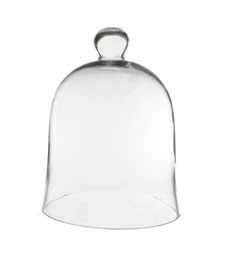 Glass cloche 10x7, ctn.4