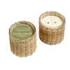 Coastal Balsam 2 Wick Handwoven Glass Candle 12oz.