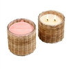 Coconut Rose'  2 wick handwoven candle 12oz.