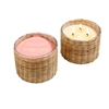 Coconut Rosé 3 wick handwoven candle 21oz.