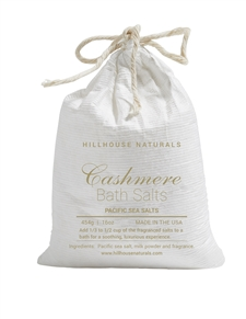 Cashmere bath salts in bag 16oz.