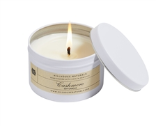 Cashmere Candle in white Tin 5oz. Ctn. 6