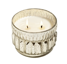 Evergreen Seedling 2 wick candle in mercury glass 9.5oz.