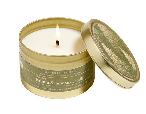 Fresh Cut Balsam & Pine In Gold Candle Tin 5oz.