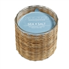 Sea Salt 2 wick handwoven candle 12oz.