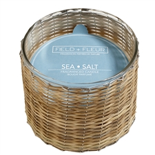 Sea Salt 3 wick handwoven candle 21oz.
