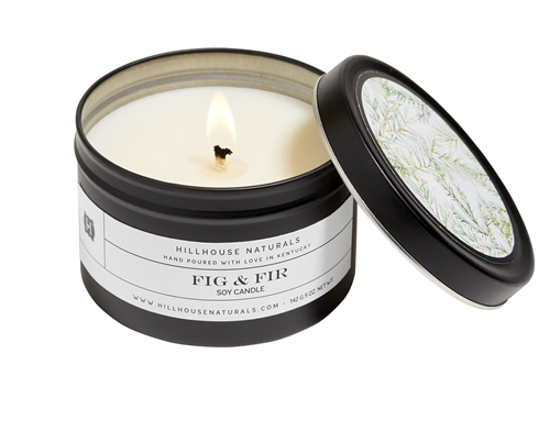 Fig & Fir Candle In Black Tin 5oz