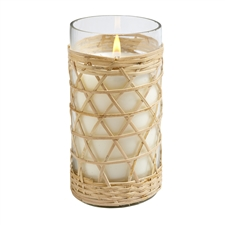 Salt & Sea  8oz bamboo candle glass