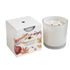 Harvest 2 Wick Candle In White Glass 12oz.
