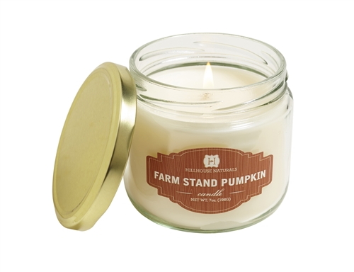 Farm Stand Pumpkin candle in reusable jelly jar7oz.