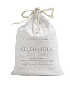 Fresh Linen bath salt In bag 16oz.