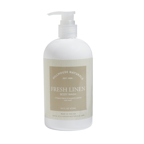 Fresh Linen body wash 16oz.