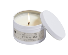 Fresh Linen candle tin 6.5oz.