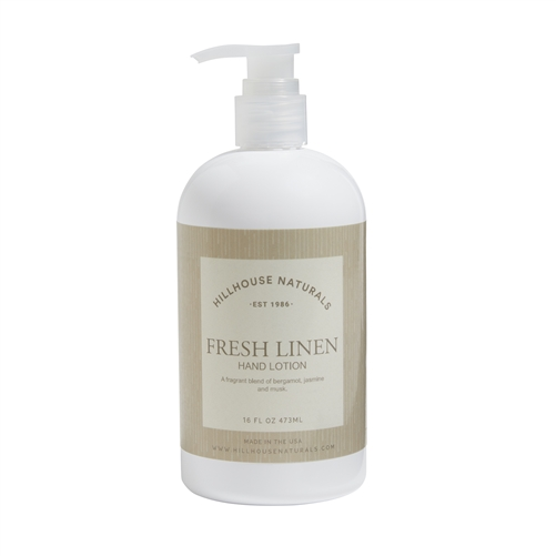 Fresh Linen hand lotion 16oz.
