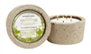 Eucalyptus Mint OUTDOOR candle in hypertufa pot 32oz.