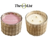 Peony Blush 3 wick handwoven candle  21oz.
