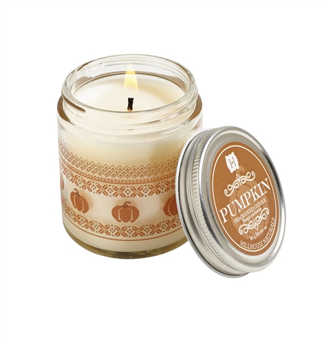 Pumpkin jar candle w/lid 3.5oz.
