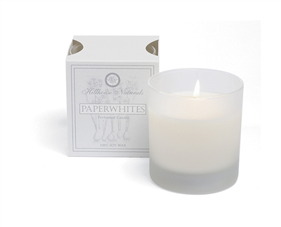 Paperwhites Candle Glass 7oz.