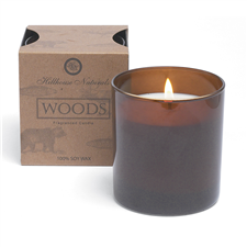 Woods candle glass 7oz.