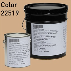 Fed STD 595 color 22519 Rosewood for MIL-DTL-24607 Chlorinated Alkyd Enamel