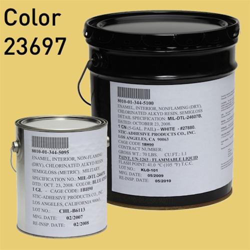 mil dtl 24607 chlorinated alkyd enamel color 23697 sun glow Bituminous Paint
