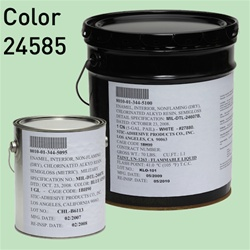 Fed STD color 24585, pastel green, for MIL-DTL-24607 Chlorinated Alkyd Enamel