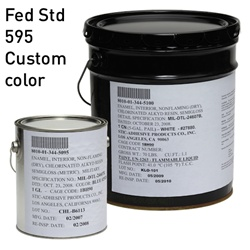 Custom Fed STD 595 color for MIL-DTL-24607 Chlorinated Alkyd Enamel