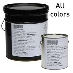 Choose Fed STD 595 color from the 72 in MIL-PRF-24635 spec.