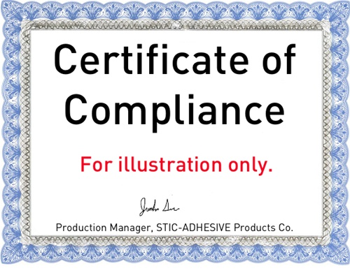 Certificate of compliance milspeccoating thecheapjerseys Image collections