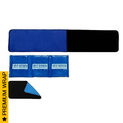 XLarge Cold Therapy Wrap with Extender and Cold Back Pack | Ice Down