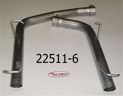 2011-14 3.6L Resonator Delete for single to dual exhaust