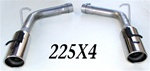 "2005-10 Charger, 300, Magnum 5.7L Hemi 6db resonator eliminator kit w/4"" resonated tips"