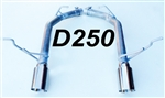"D250 11-20 5.7L 14-20 3.6L Durango 2 1/2"" Resonator Delete w/4"" tips"